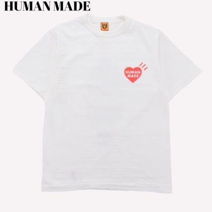 HUMAN MADE More T-Shirts Pullovers Unisex Street Style U-Neck Plain Cotton