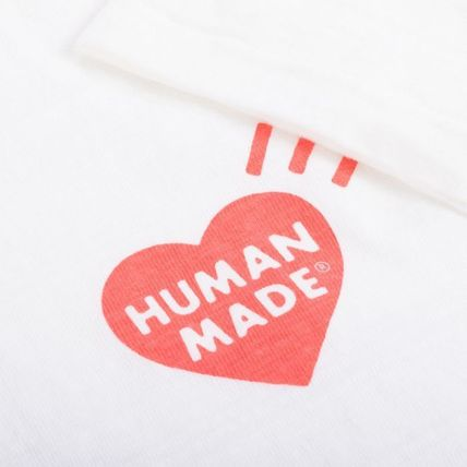 HUMAN MADE More T-Shirts Pullovers Unisex Street Style U-Neck Plain Cotton 3