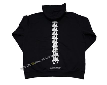 CHROME HEARTS CH CROSS Unisex Long Sleeves Cotton Hoodies