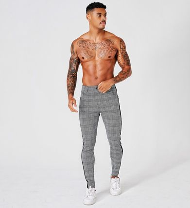 Other Plaid Patterns Men Skinny Pants
