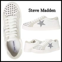 Steve Madden Star Platform Round Toe Lace-up Casual Style Blended Fabrics