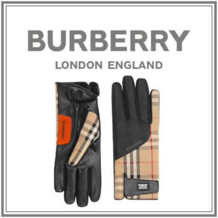 Burberry Other Plaid Patterns Leather Cotton Logo