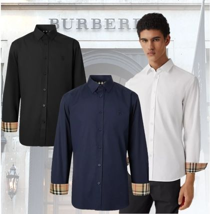 Burberry Shirts Other Plaid Patterns Long Sleeves Cotton Logo Luxury Shirts