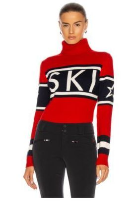 Short Stripes Casual Style Unisex Wool Street Style