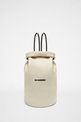 Jil Sander Casual Style Street Style Plain Leather Office Style