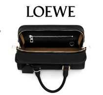 LOEWE AMAZONA Casual Style Calfskin A4 2WAY Plain Leather Party Style