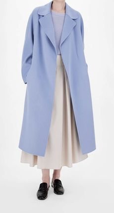 S Max Mara Casual Style Plain Long Office Style Elegant Style