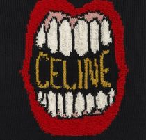 CELINE Sweaters Crew Neck Unisex Wool Cashmere Long Sleeves Plain Logo 4