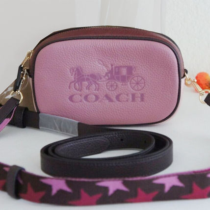 Coach Casual Style Unisex Street Style 2WAY Plain Leather
