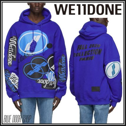 We11Done Hoodies Pullovers Sweat Street Style Long Sleeves Plain Cotton