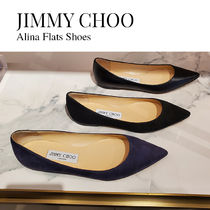 Jimmy Choo Suede Plain Leather Party Style Office Style Formal Style