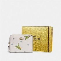 Coach Other Animal Patterns Leather Folding Wallet Long Wallet