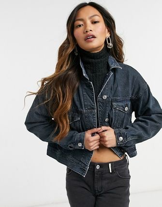 American Eagle Outfitters Denim Plain Jackets