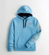 Hollister Co. Hoodies Blended Fabrics Street Style Long Sleeves Cotton Logo 11