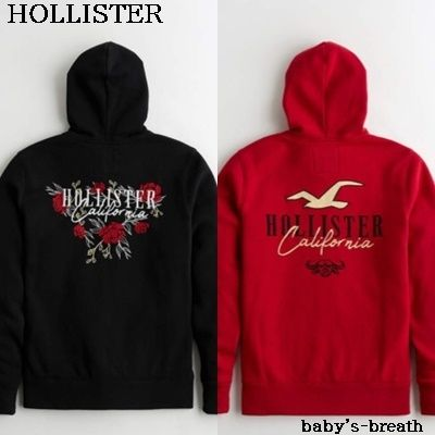 Hollister Co. Hoodies Blended Fabrics Street Style Long Sleeves Cotton Logo