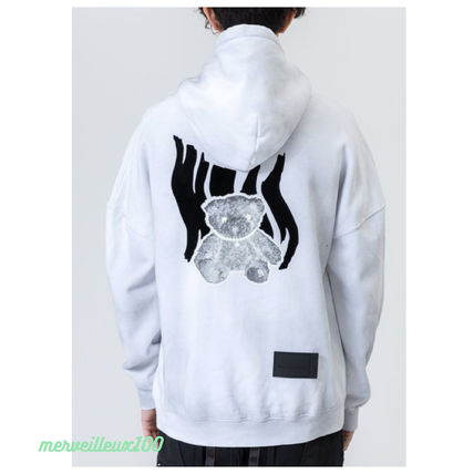 We11Done Hoodies Pullovers Sweat Street Style Long Sleeves Cotton Logo