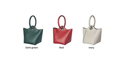 Casual Style Street Style Plain Leather Party Style Purses