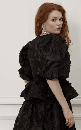 Casual Style Party Style Elegant Style Puff Sleeves