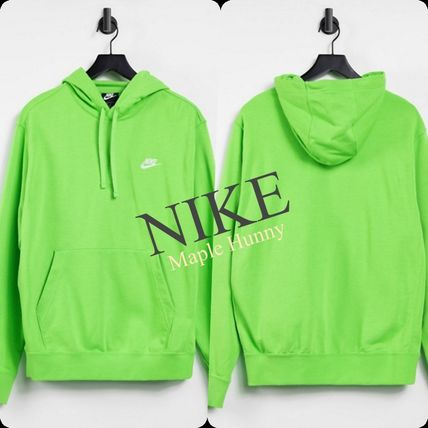 Nike Hoodies Pullovers Sweat Street Style Long Sleeves Plain Cotton Logo