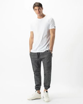 Ron Herman Tapered Pants Sweat Street Style Plain Cotton Logo Military