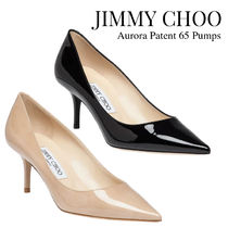 Jimmy Choo Plain Leather Party Style Office Style Elegant Style