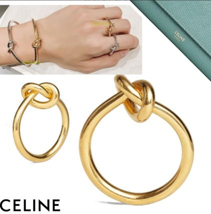 CELINE Knot Ring In Brass With Gold Finish