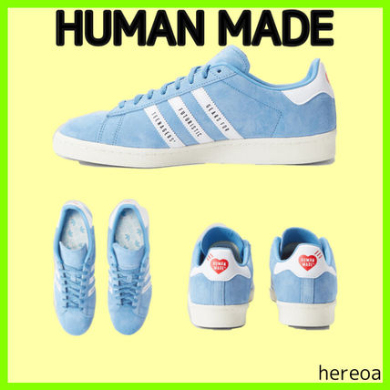 HUMAN MADE Unisex Street Style Collaboration Plain Logo Sneakers