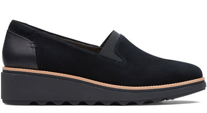 Clarks Open Toe Leather Party Style Office Style Elegant Style