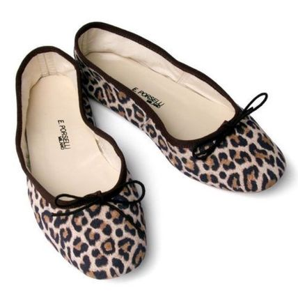 Leopard Patterns Casual Style Suede Leather Party Style