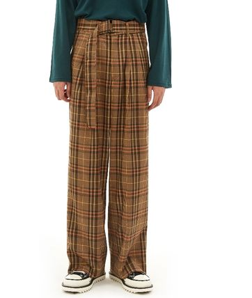 OPEN THE DOOR Slax Pants Gingham Glen Patterns Other Plaid Patterns