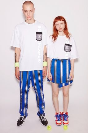 Stripes Casual Style Unisex Street Style Long Logo Pants