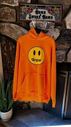 drew house Hoodies Pullovers Unisex Street Style Long Sleeves Cotton Oversized 9