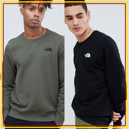 THE NORTH FACE Sweatshirts Crew Neck Pullovers Long Sleeves Plain Logo Outdoor
