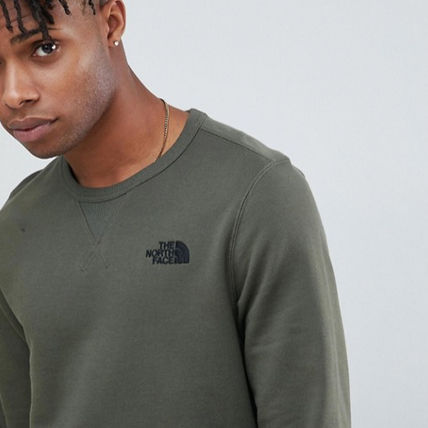 THE NORTH FACE Sweatshirts Crew Neck Pullovers Long Sleeves Plain Logo Outdoor 3