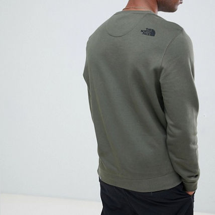 THE NORTH FACE Sweatshirts Crew Neck Pullovers Long Sleeves Plain Logo Outdoor 4