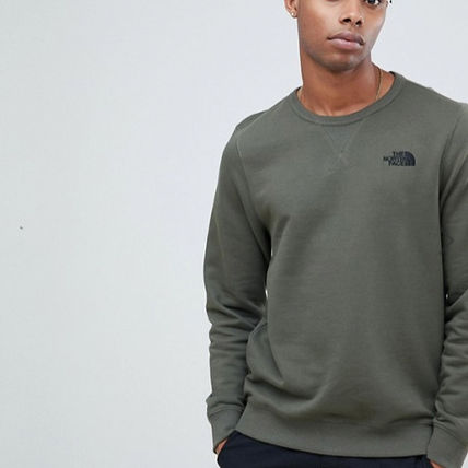 THE NORTH FACE Sweatshirts Crew Neck Pullovers Long Sleeves Plain Logo Outdoor 5