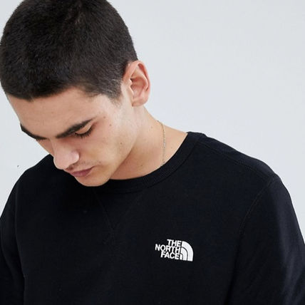 THE NORTH FACE Sweatshirts Crew Neck Pullovers Long Sleeves Plain Logo Outdoor 6