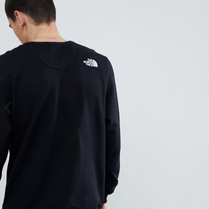 THE NORTH FACE Sweatshirts Crew Neck Pullovers Long Sleeves Plain Logo Outdoor 7