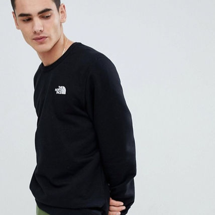 THE NORTH FACE Sweatshirts Crew Neck Pullovers Long Sleeves Plain Logo Outdoor 8