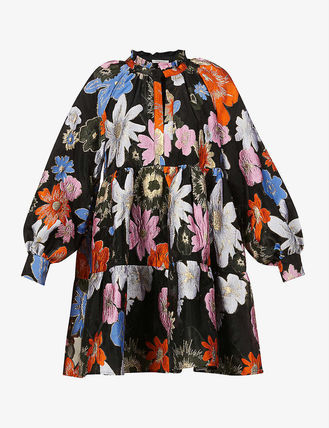 Flower Patterns Casual Style Street Style Long Sleeves