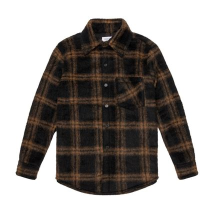 Tartan Other Plaid Patterns Street Style Long Sleeves Logo