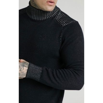 SikSilk Sweaters Pullovers Blended Fabrics Street Style Long Sleeves Plain 3