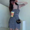Short Zigzag Casual Style Tight Sleeveless Party Style