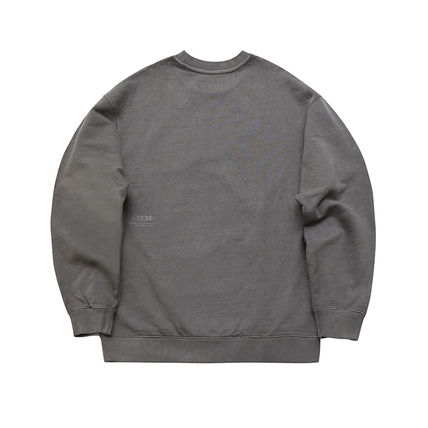MARKM Sweatshirts Crew Neck Pullovers Unisex U-Neck Long Sleeves Plain Cotton 9