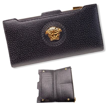 VERSACE Leather Long Wallets