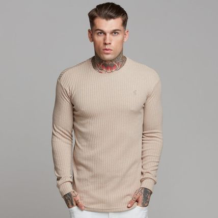 Father & Sons Sweaters Crew Neck Street Style Long Sleeves Plain Sweaters 2