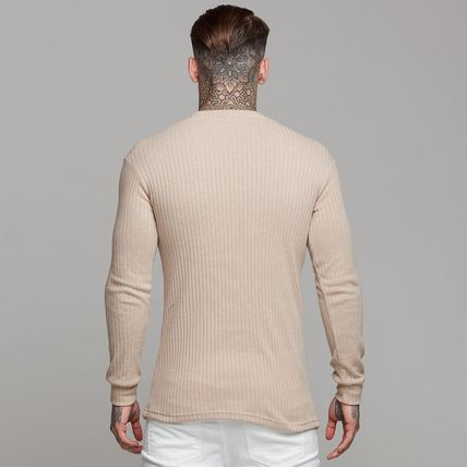 Father & Sons Sweaters Crew Neck Street Style Long Sleeves Plain Sweaters 3