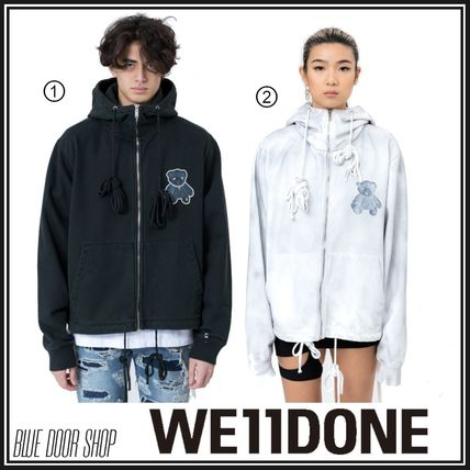 We11Done Hoodies Unisex Street Style Long Sleeves Cotton Oversized Hoodies