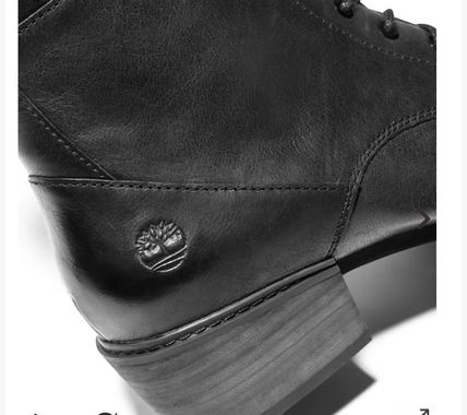 Timberland Leather Mid Heel Boots