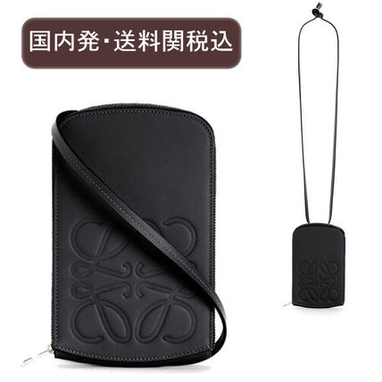 LOEWE Logo Unisex Leather Coin Cases